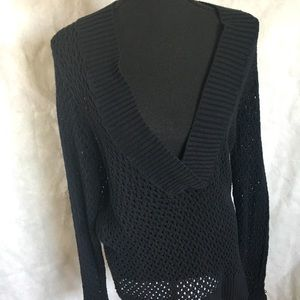 Sonoma black lace sweater size XL long sleeved